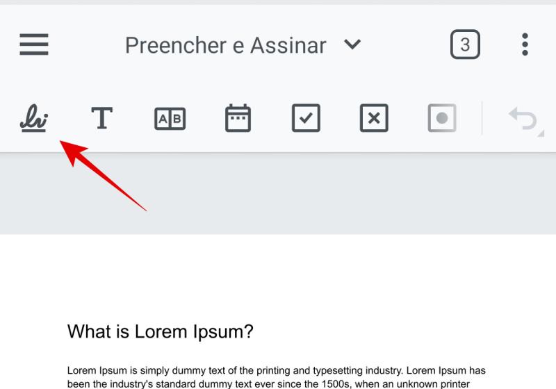 Botão para assinar documento PDF